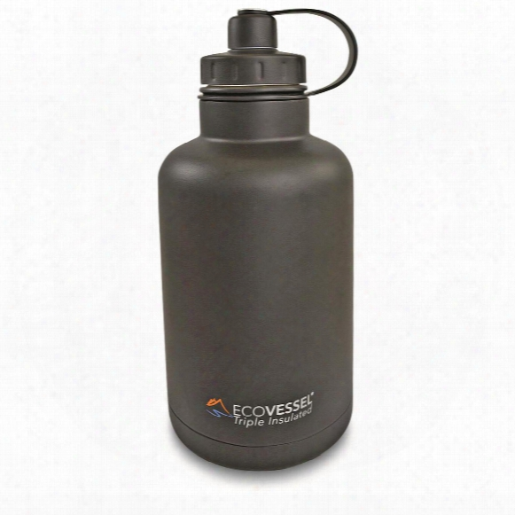 Ecovessel Bossg Rowler Insulated Bottle With Infuser, 64 Oz.