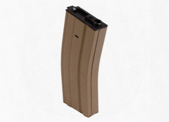 Elite Force Ares M4/m16  Airsoft Rifle Magazine, Metal, Tan, 300 Rds