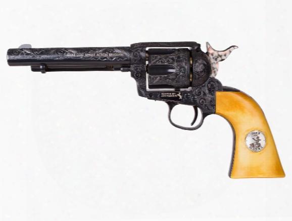 Engraved D Uke Colt Co2 Pellet Revolver, Blued