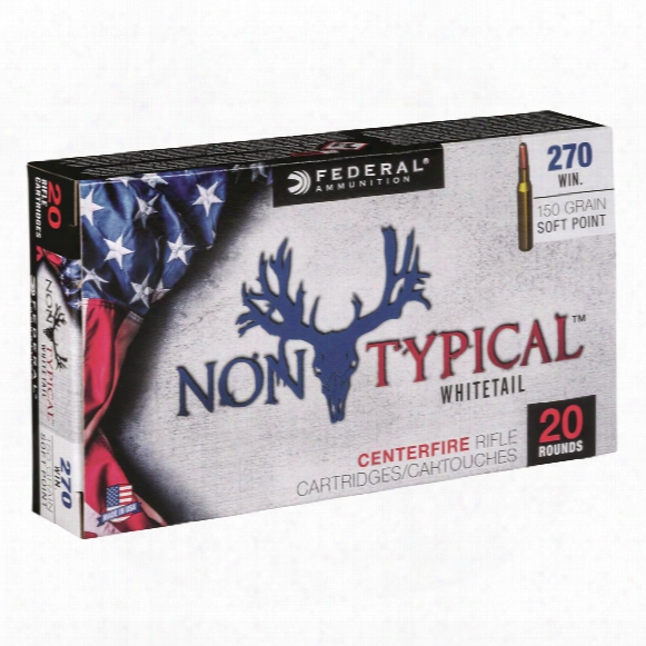 Federal Non-typical, .270 Winchester ,sp, 150 Grain, 20 Rounds