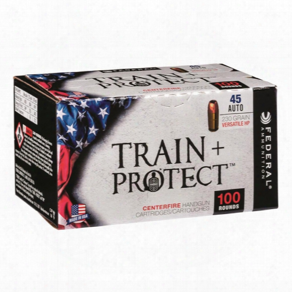 Federal Train + Protect, .45 Auto, Vhp, 230 Grain, 100 Rounds