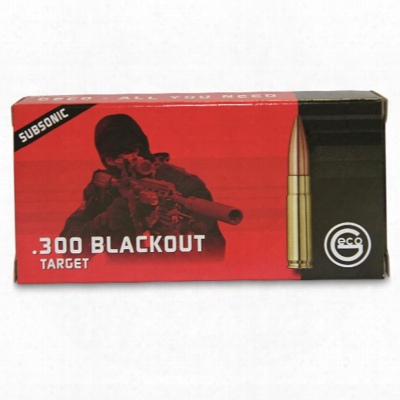 Geco, .300 Aac Blackout, Hpbt, Sub Sonic, 220 Grain, 20 Rounds
