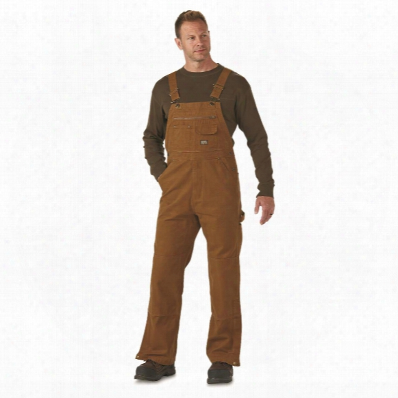 Gravel Gear Men's Duck Bib Overalls With Teflon