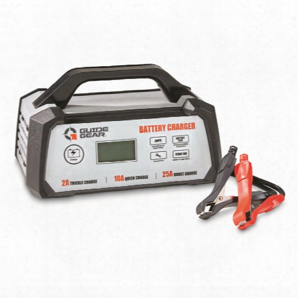 Guide Gear 25a 12v Smart Battery Charger With Start Aid Function