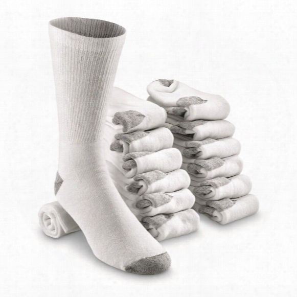 Guide Gear Men's Baker's Dozen Crew Socks, 13 Pairs