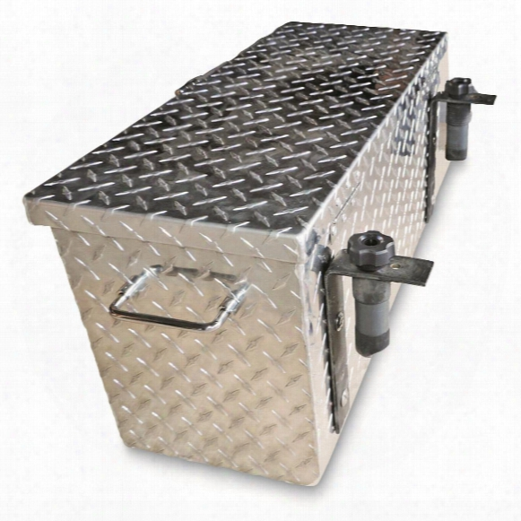 Hornet Outdoors Polaris Mid-size Ranger Diamond Plate Aluminum Tool Box, Large