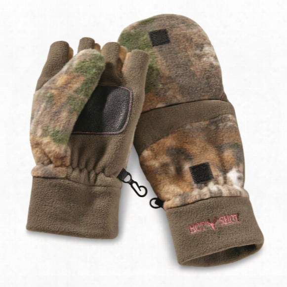 Hot Shot Women's Camo Insulated Pop-top Mittens