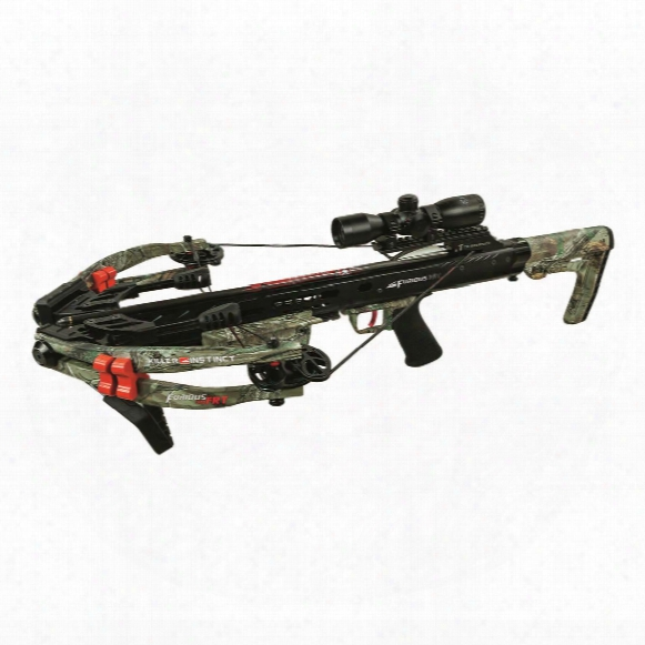 Killer Instinct Furious 370 Frt Crossbow Package, 185 Lbs. Draw Weight