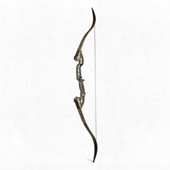 Martin Archery Jaguar Elite Take-down Recurve Bow, 45-lb., Right Handed, Black Flame