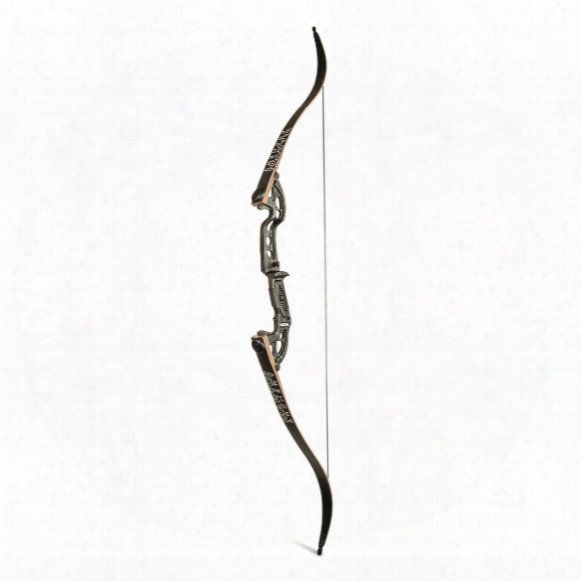 Martin Archery Jaguar Elite Take-down Recurve Bow, 55-lb., Right Handed, Black Flame