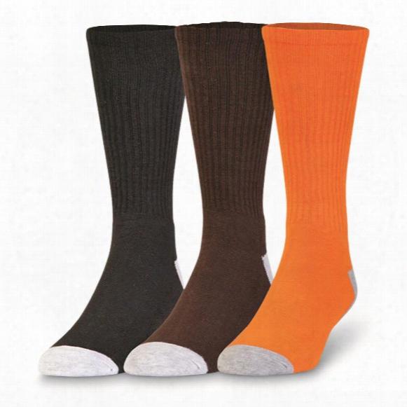 Mossy Oak Men's Stripe Crew Socks, 3 Pairs