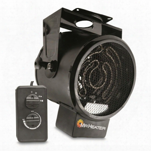 Mr. Heater 5.3 Kw Forced Air Electric Garage Heater With Thermostat Remote