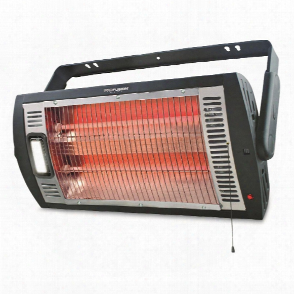 Profusion Heat Ceiling Mounted Workshop Heater With Halogen Light, 5,200 Btus, 1500 Watts