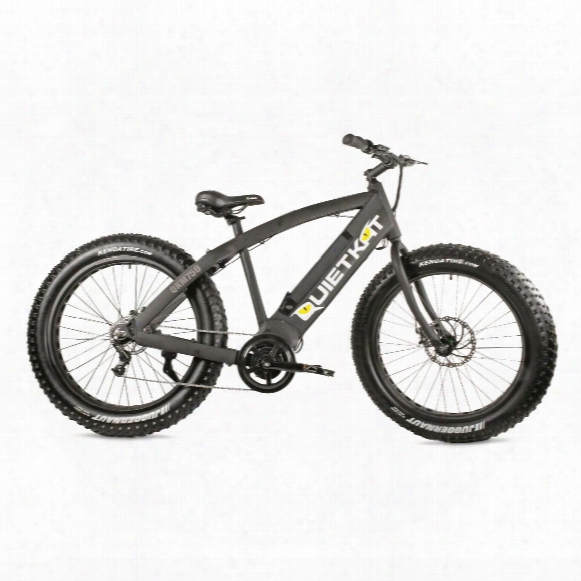 Quietkat Fatkat Electric Qkeco750 Mountain Bike, Black