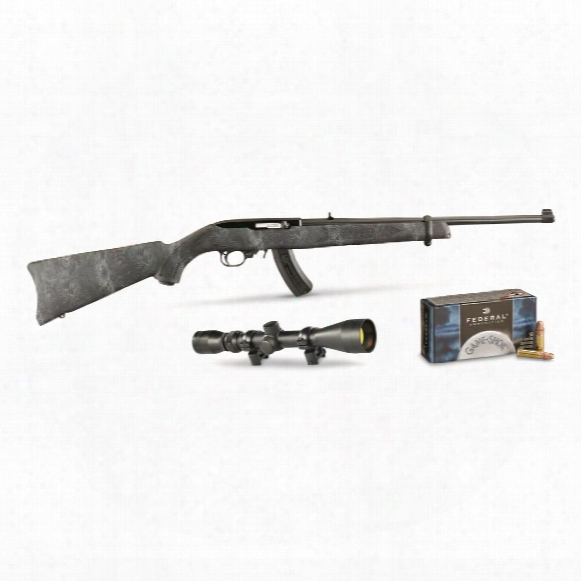 Ruger 10/22 Kryptek, Semi-automatic, .22lr, Rimfire, Bx-25 Magazine, 500 Rounds Of Ammo, 25+1 Rounds