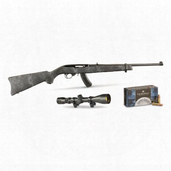 Ruger 10/22 Kryptek, Semi-automatic, .22lr, Rimfire, Bx-25 Magazine, 500 Rounds Of Ammo, 25+1 Rounds