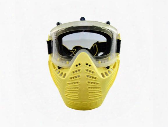 Scott Vectra Airsoft / Paintball Referee Yellow Goggle Anti-fog Mask
