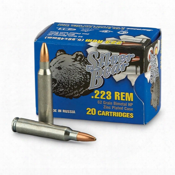 Silver Bear, .223 Remington, Hp, 62 Grain, 500 Rounds