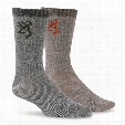 Browning Men's Everyday Wool Socks, 2 Pairs