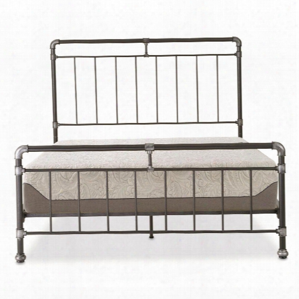 "Tranquil Sleep 10"" Gel Memory Foam Mattress Set With Vintage Pipestone Platform Bed, Queen"