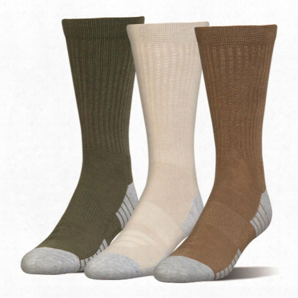 Under Armour Men's Heatgear Tech Crew Socks, 3 Pairs