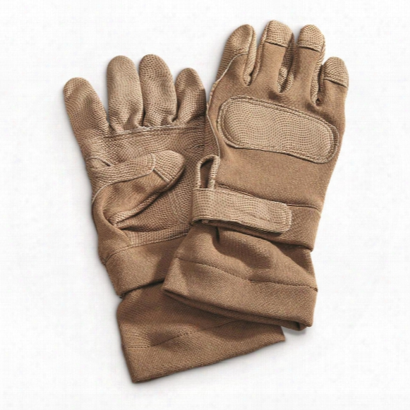 U.s. Military Surplus Ansell Fire Resistant Combat Gloves, 3 Pairs, Like-new