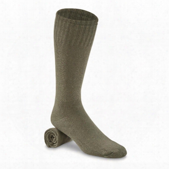 U.s. Military Surplus Heavyweight Boot Socks, 12 Pack