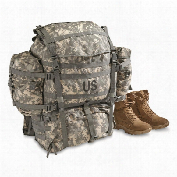 U.s Military Surplus Molle Field Pack Complete With Frame, New