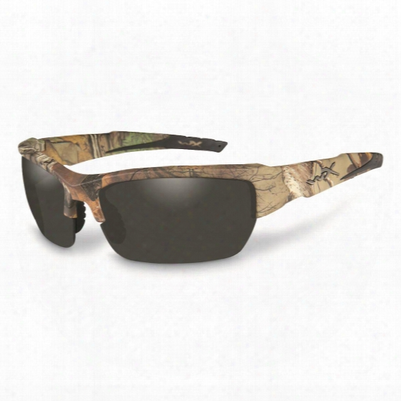 Wiley X Men's Valor Su Nglasses, Realtree Xtra