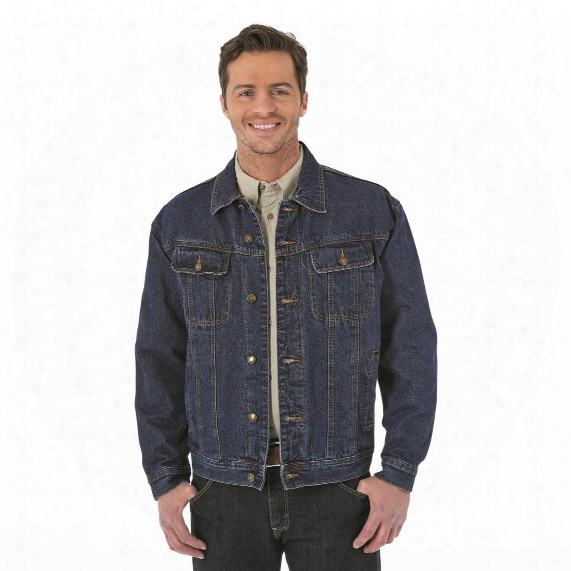 Wrangler Rugged Wear Men's Flannel Lined Denim Jacket