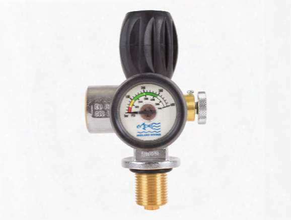 Air Venturi Hp Valve With Burst Disc, 7/8 Unf, 4500 Psi