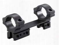 "Bkl 1-pc Mount, 4"" Long, 1"" Rings, 3/8"" Or 11mm Dovetail, For Bolt-action Guns, Matte Black"