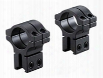 """Bkl 1"""" Rings, 3/8"""" Or 11mm Dovetail, Double Strap, High, Matte Black"""