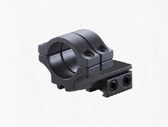 "Bkl Single 30mm Double Strap Offset Ring, 3/8"" Or 11mm Dovetail, 1"" Long, Medium, Black"