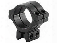 "Bkl Single 30mm Double Strap Ring, 3/8"" Or 11mm Dovetail, 1"" Long, Low, Black"