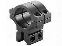 "Bkl Single 30mm Double Strap Ring, 3/8"" Or 11mm Dovetail, 1"" Long, Medium, Black"