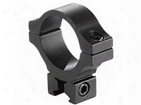 "Bkl Single 30mm Single Strap Ring, 3/8"" Or 11mm Dovetail, .60"" Long, Low, Black"