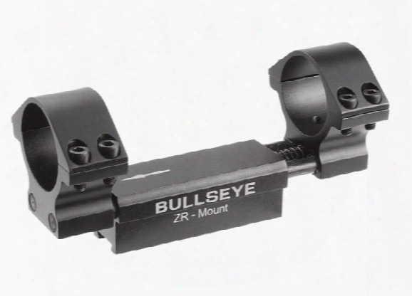 """Bullseye Zr 1-pc Mount, 30mm Rings, 11mm Dovetail,0.04"""" Droop Compensation, Recoil Compensation"""