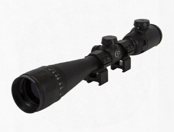 "Centerpoint 4-16x40 Ao Rifle Scope, Illuminated Tag-style Reticle, 1"" Tube, Picatinny Rings"