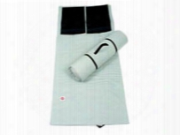 Creedmoor Sports Basics Roll-up Shooting Mat, Black Elbow Pads, Pearl Gray