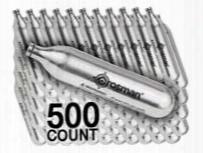 Crosman 12 Gram Co2, 500 Copperhead Powerlet Cartridges