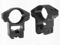"Gamo 1"" Rings, High, 3/8"" & 11mm Dovetail, See-thru"
