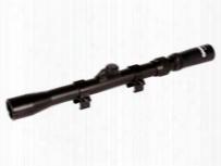 "Gamo 3-7x20 Rifle Scope, 30/30 Tv Reticle, 1/4 Moa, .75"" Tube, 3/8"" Rings"