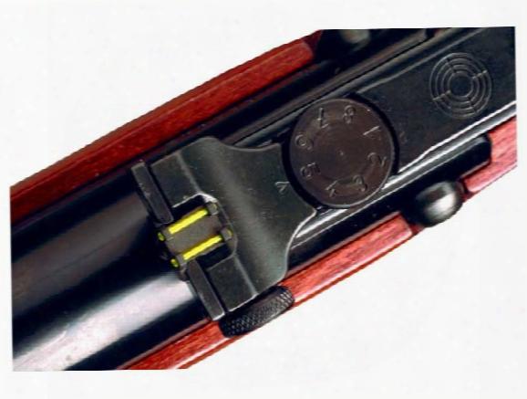 Hw Rear Truglo Fiber Optic Sight, Fits Select Hw Rifles
