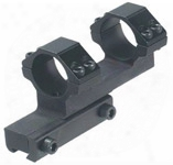 """Leapers Accushot 1-pcb I-directional Offset Mount W/1"""" Rings, High, 11mm Dovetail"""