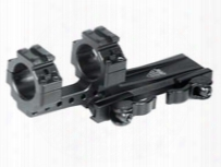 """Leapers Utg 1-pc Offset Mount, 1"""" Rings, High, 100mm Base, 2 Top Slots, Weaver/picatinny Mount"""
