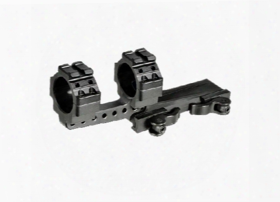 Leapers Utg 1-pc Offset Mount, 30mm Rings, High, 100mm Base, 2 Top Slots, Weaver/picatinny Mount