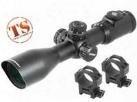 Leapers Utg 4-16x44 Ao Accushot Swat Rifle Scope, Ez-tap, Illuminated Mil-dot Reticle, 1/4 Moa, 30mm Tube, Lever-lock Weaver Rings