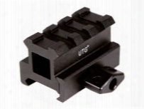"Utg 3-slot Medium-profile Compact Riser Mount, 0.83"" High, Black"
