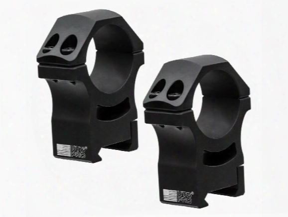 Utg Pro Us Made 30mm Rings, High, Poi Picatinny